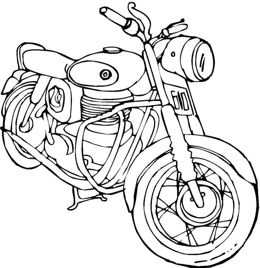 Раскраска мотоциклы