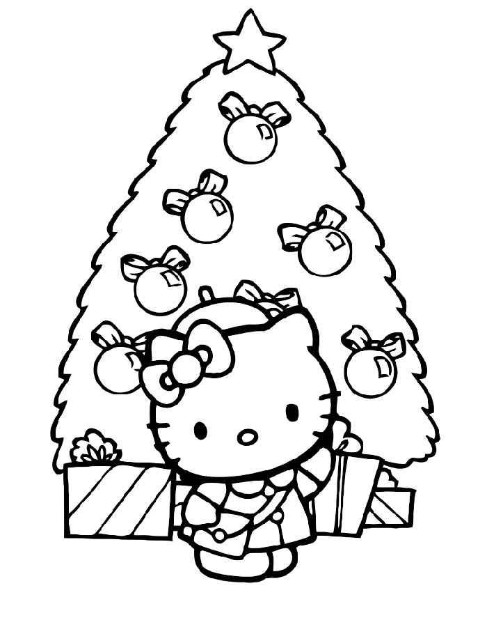 Раскраска новогодняя елка