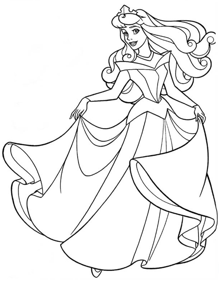 Раскраска платья