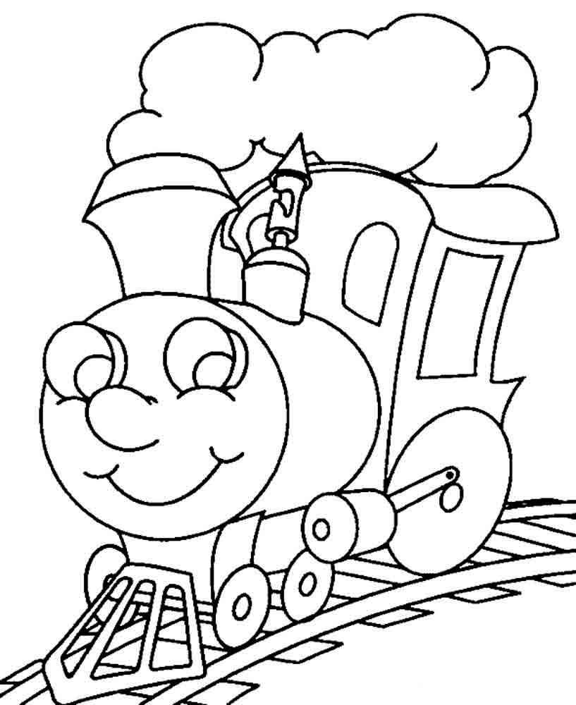 Раскраска поезд