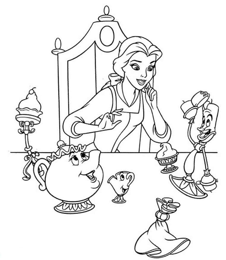 Раскраска принцесса Белль
