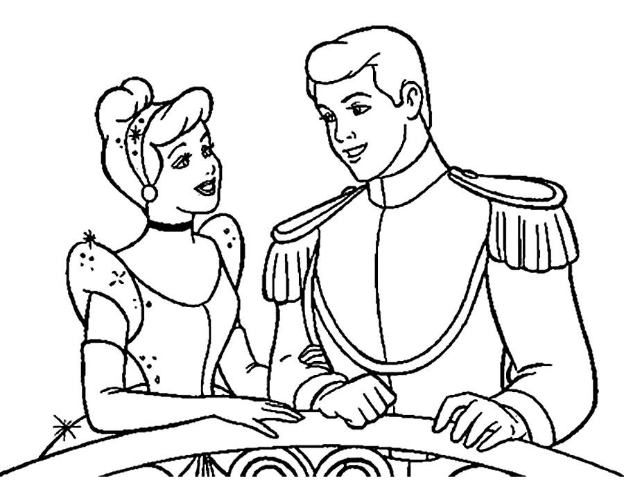 Принц раскраска