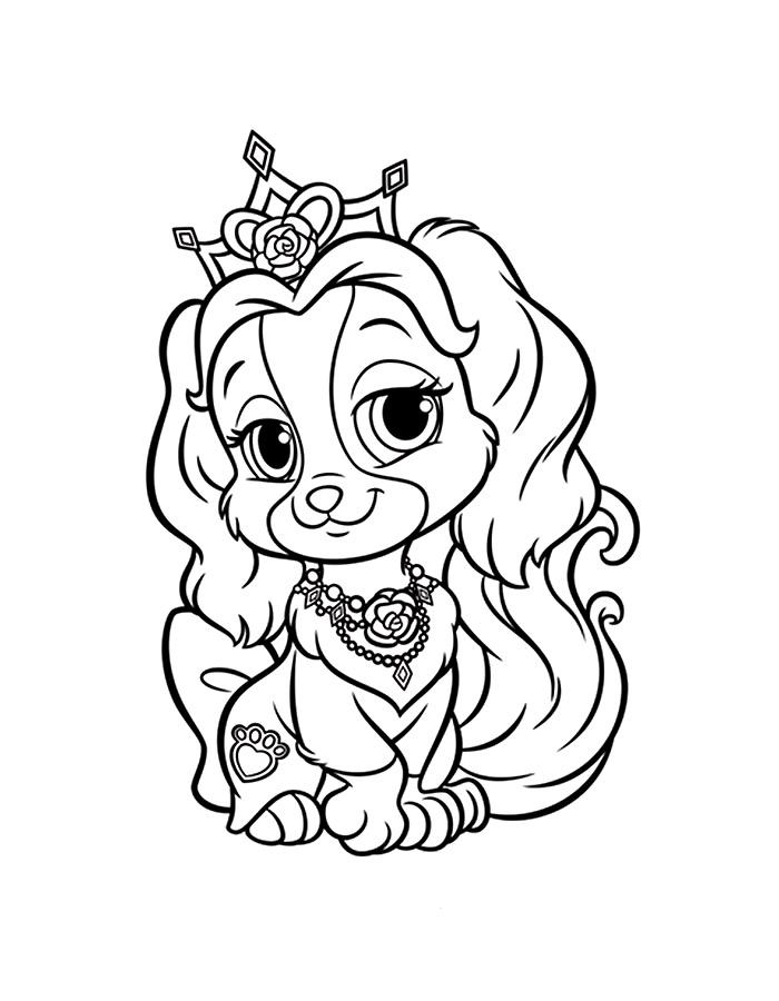 Раскраска принцессы диснея и их питомцы