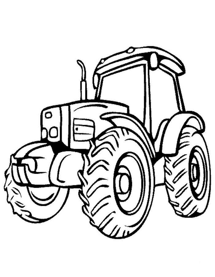 Раскраска трактор