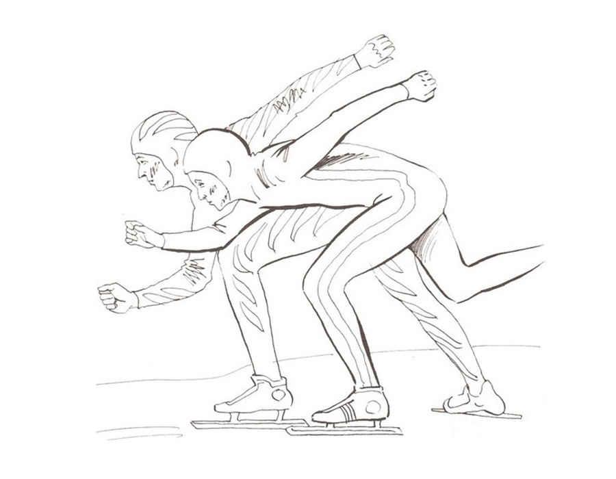 Раскраска зимние виды спорта