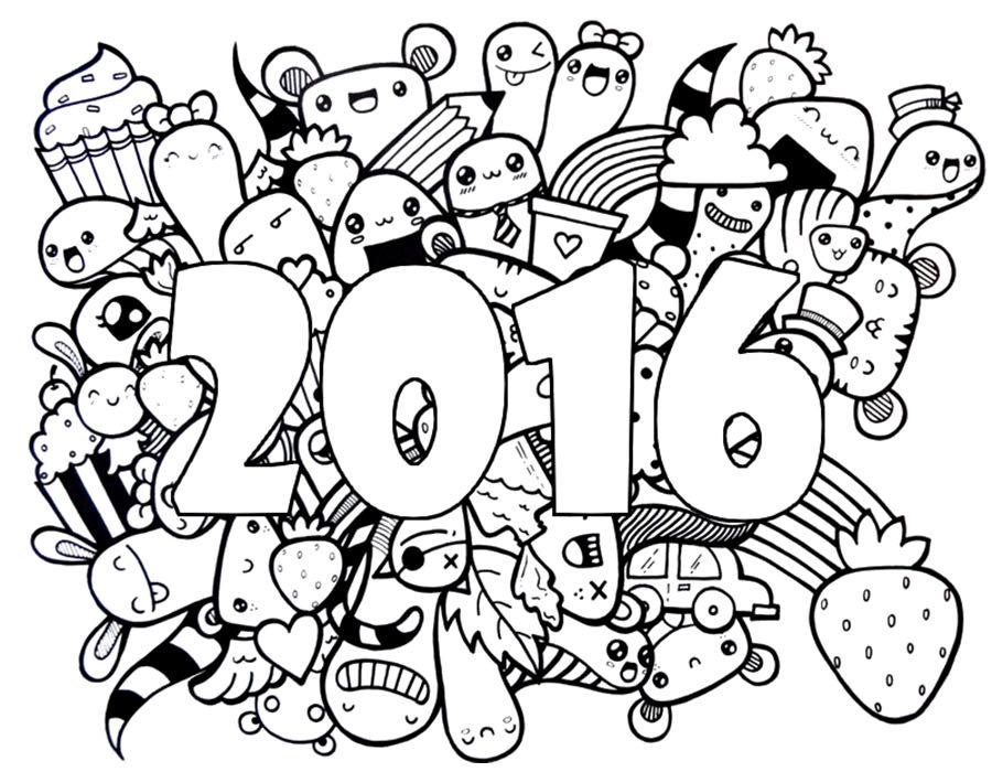 Раскраски к наступающему году обезьяны