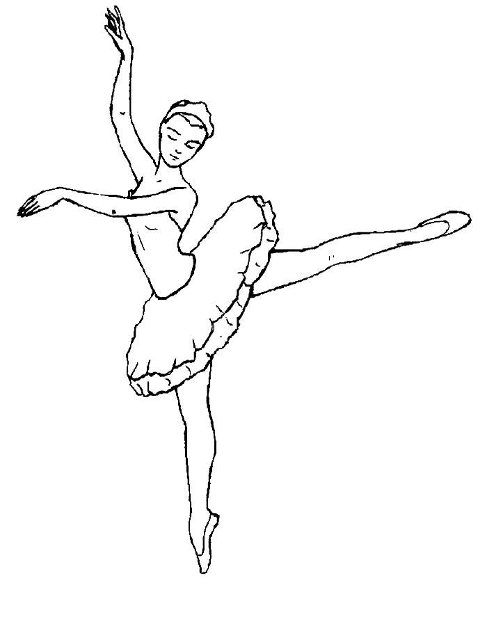 Раскраски балерины
