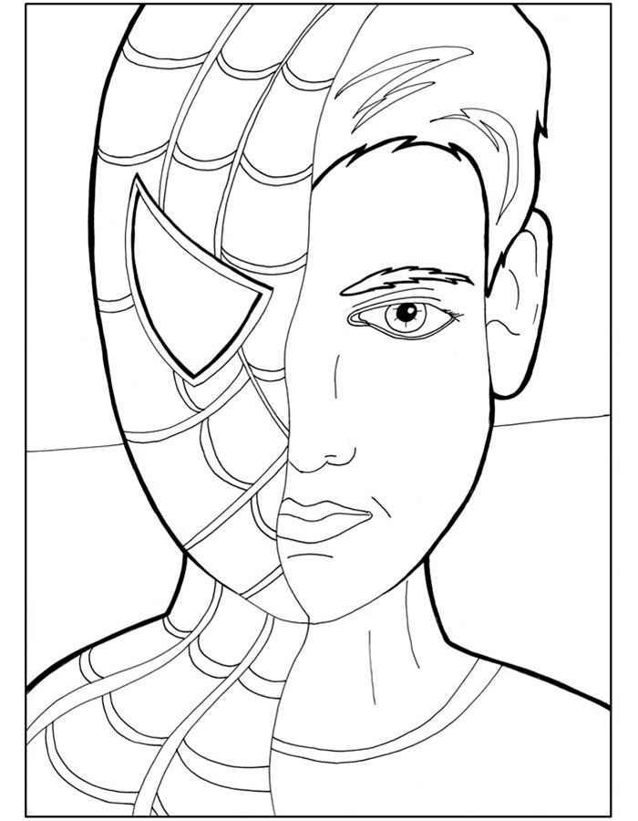 Раскраски Человек Паук