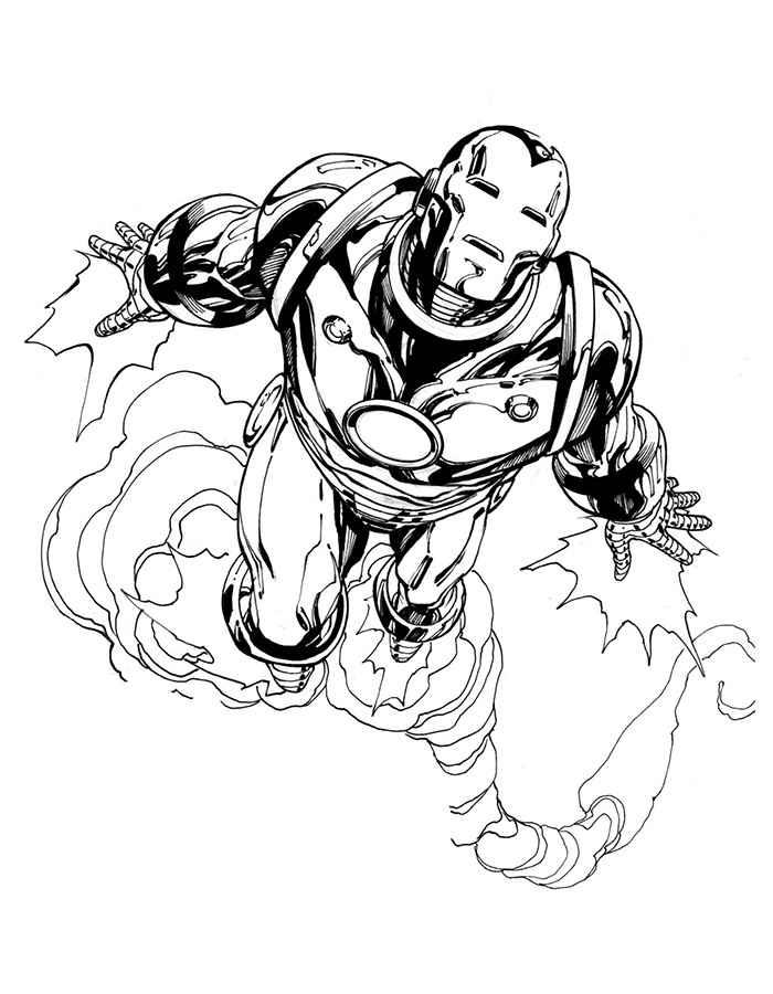 Железный человек раскраска