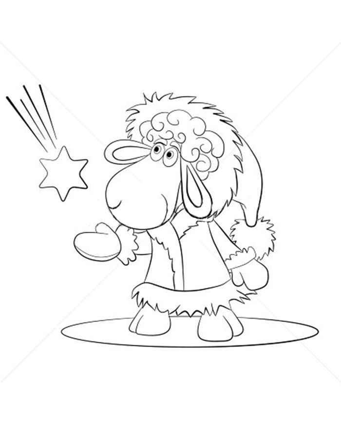 Раскраски к новому году год козы