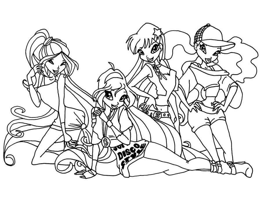 Картинки розмальовки для дівчаток Вінкс — Zdorovia