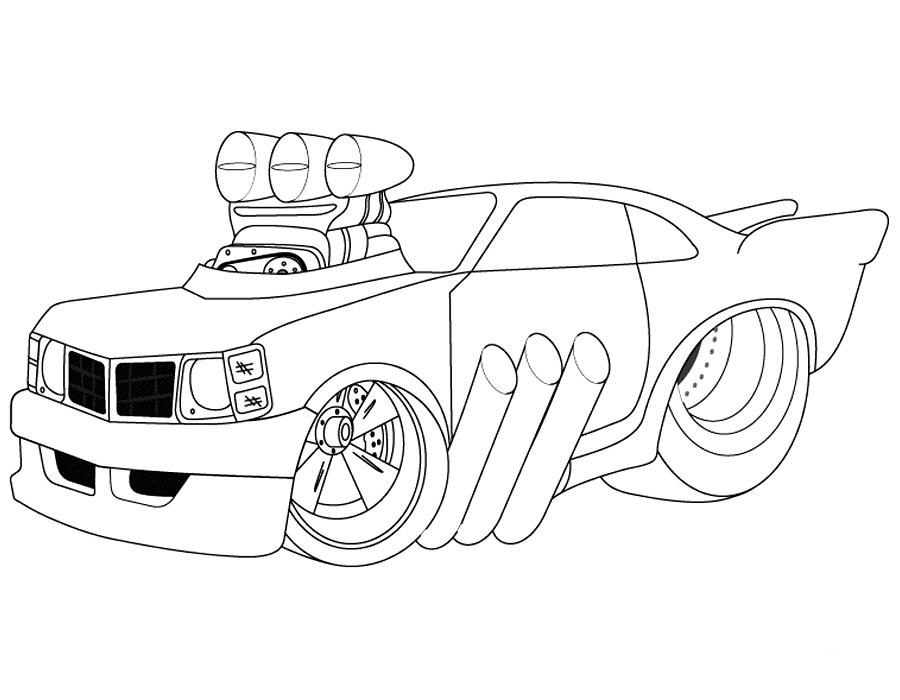 Раскраски машины (тачки)