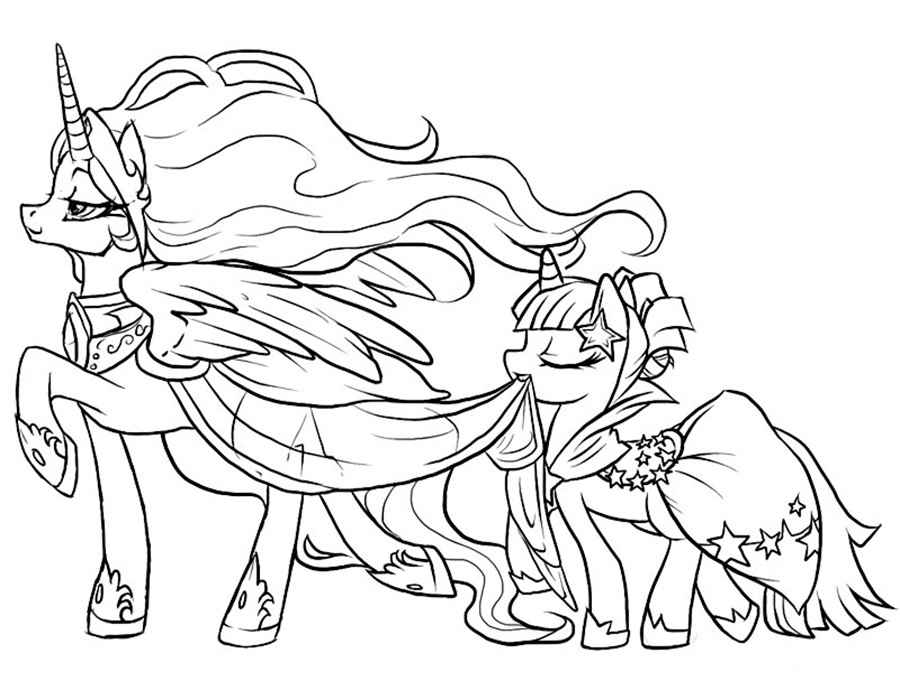 My little pony friendship is magic coloring pages princess celestia ...