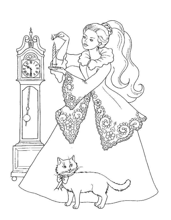 Раскраски Принцессы Диснея