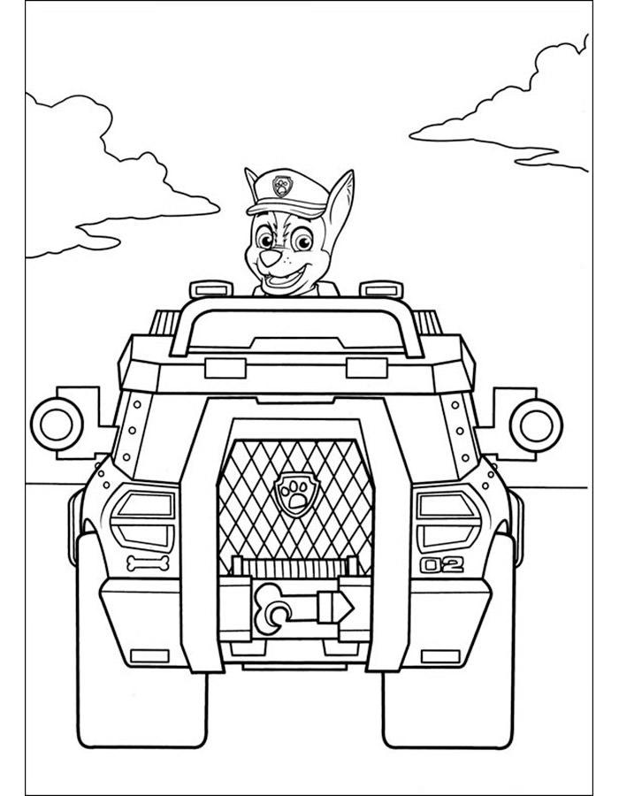Играть в игру раскраски щенячий патруль