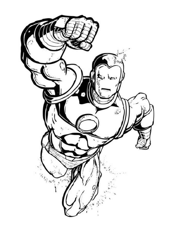 Супергерои раскраски