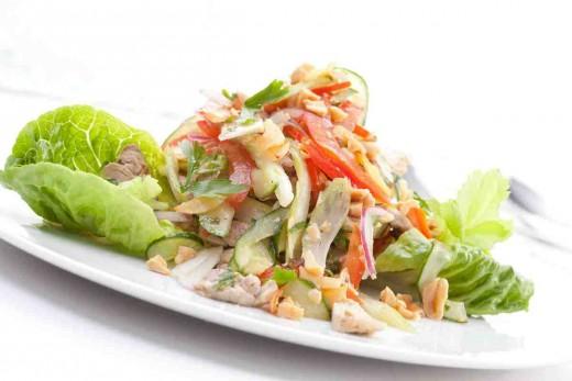 Салат с мясом