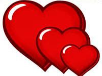 Картинки-раскраски сердечки