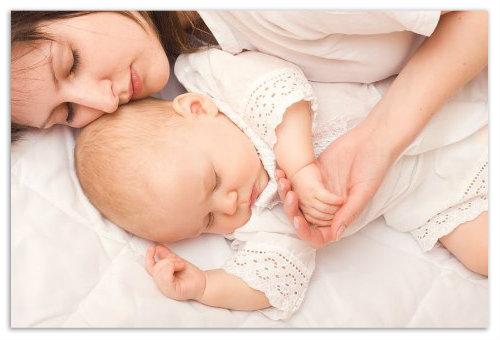 Сон мамы и малыша.
