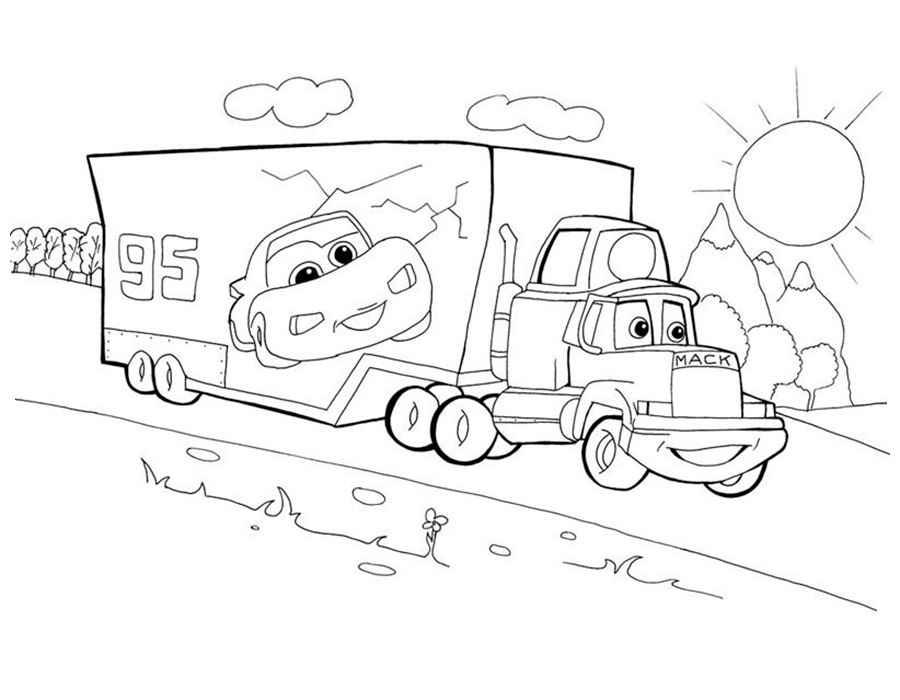 Раскраски для мальчиков машинки мультфильм