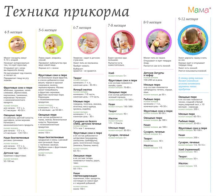 Рекомендации введения прикорма