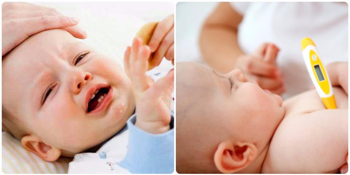 какая температура может подняться при прорезывании зубов