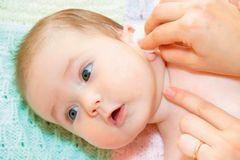Уши новорожденного