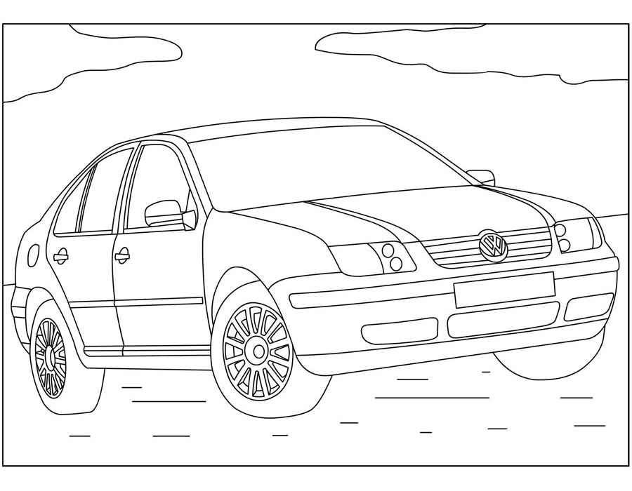 Volkswagen раскраски