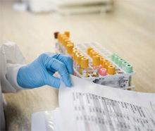 пробирки с анализом крови