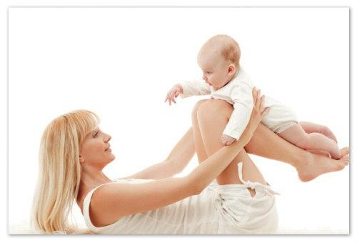 Зарядка мамы и младенца