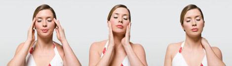 3 фото женщины с гол болью